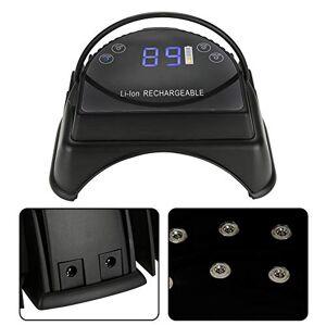 Brrnoo 64W Secador de Uñas, Lámpara de Uñas LED para barniz de uñas y gel curado UV para manicura y pedicura(Negro)