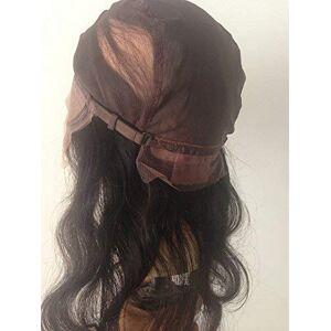 Cupidlovehair Peluca de cabello humano virgen sin procesar, sin procesar, sin procesar, sin mechas, color negro natural, Negro, Hair Length 14