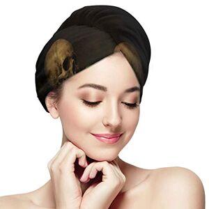 HYTCSY Fantasy Skull Portrait With Roses Toalla de secado rápido para cabello Toalla de secado rápido para cabello Absorbente suave Cabello de secado rápido Turbante Cabello Microfibra Toalla de secado Toal
