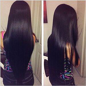 Dream Diana Pelo recto peruano  con frontal Remy recto paquetes de cabello con frontal 3 paquetes de pelo peruano con frontal, 16 18 20+Lace Frontal 14