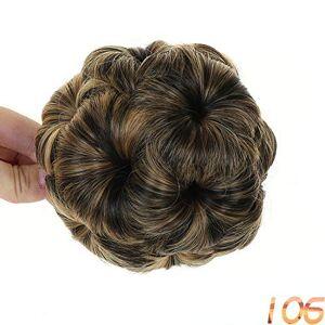 Surprise-Show Extensiones de pelo sintético para mujer, color negro y café, fibra de alta temperatura, 6, Una talla