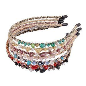 Candygirl Women/Girls Jewel Headbands (7pc Set Bejeweled Sparkle Headbands)