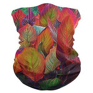 GREEDCLOUD Rainbow Leaves Outdoor Magic Headband Multifunctional Elastic Seamless Bandana Scarf UV Resistence Sport Headwear