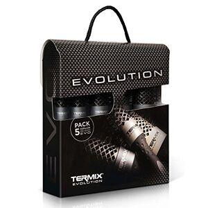 Termix TXEPPACK0005 Maletin 5 Cepillos Evolution Carton Plus, Negro/Gris