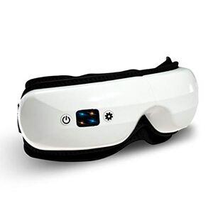 KK-mall Masajeador de ojos eléctrico portátil con calor y presión de aire, masajeador digital Shiatsu inalámbrico para alivio de fatiga ocular en seco, elección de regalo (versión LCD)