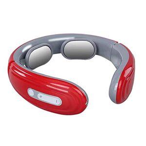 YUWJ 6 modos inteligente de espalda y cuello masajeador eléctrico de pulso alivio del dolor Calefacción herramienta del cuidado médico cervical Masaje de relajación,Red
