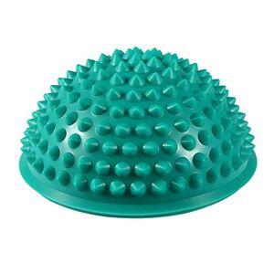 Mavis Laven 5 colores Media bola de masaje de PVC redondo Vainas de balanceo del cuerpo Pies puntiagudos Equilibrio y terapia Cúpula Bolas de yoga Gimnasio Ejercicio Gimnasio Masajeador(verde)