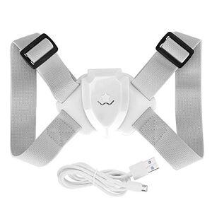 OhhGo Corrector de espalda con detección inteligente ajustable, soporte para corrección de postura hacia atrás (rosa), Blanco