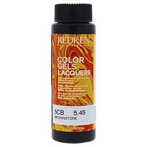 Redken Color Gels Lacquers Haircolor 5CB Brownstone for Unisex 2 oz Hair Color