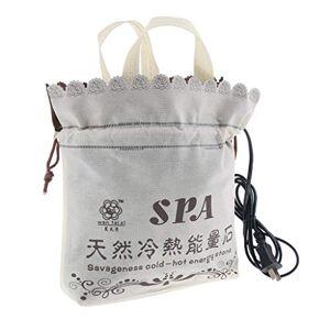 Prettyia Calefactor eléctrico de piedra caliente, SPA para masaje de piedra caliente, bolsa de calefacción para relajación corporal, capacidad para 16 piezas de piedra de roca