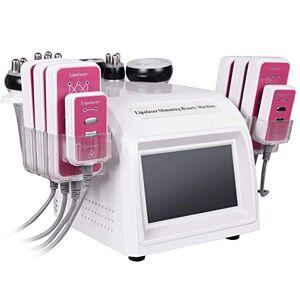 LWYJ Máquina de Adelgazamiento de Radiofrecuencia 6 en 1 Máquina Adelgazante 40K RF Multipolar Máquina de Grasa de Cavitación por presión Negativa ultrasónica Dispositivo Delgado para el Cuerpo