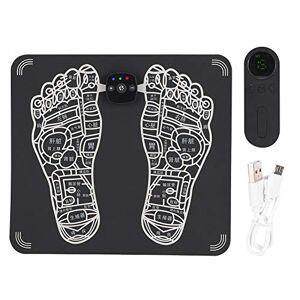 Qkiss EMS Masajeador de pies Control remoto eléctrico Vibrador de pies Almohadilla de masajeador de pies Accesorio de estera Almohadilla de estimulador muscular para la circulación de la sangre(Negro)