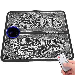 CUEA Masajeador de pies eléctrico, esterilla de masaje eléctrica portátil plegable, masajeador de pies EMS de 6 modos, para uso de oficina, hogar de hombres