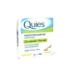 Quies THREE PACKS of  Boules Wax Earplugs 8 Pairs by