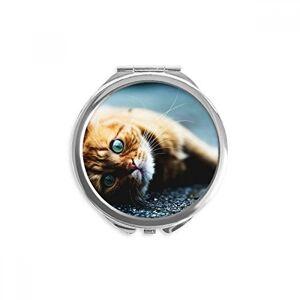 DIYthinker Animal Pure Blue Eye Espejo compacto para fotografía de mano, diseño de gato