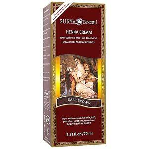 Surya Brasil. Henna crema café oscuro 2.31 oz. (paquete de 2)