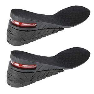 Duevin 1 par de plantillas de altura: plantillas de gel de silicona que aumentan, talones interiores de zapatos que aumentan la altura: suelas de media altura(04#)