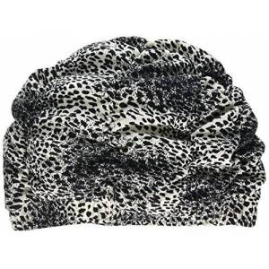 Fashy Ladies Black and White Animal Print Shower Cap Shower Hat  Traditional Style by