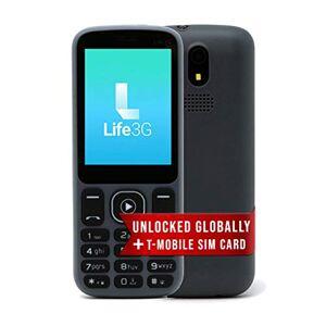S Smooth Teléfono 3G desbloqueado por  Celular Desbloqueado Acepta 2 tarjetas SIM (Dual SIM), fácil de usar, compacto y duradero ideal para el trabajo, personas mayores, niños, copia de seguridad y emergencias. (Azul oscuro), $19 Prepaid SIM Plan, Gris os