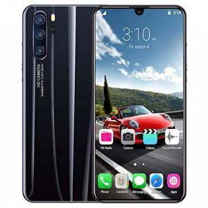 PinShang Smartphone, 6.3 Inch, P36 Pro Android Smartphone, Dual SIM Face Fingerprint Recognition Mobile Phone,6G+128G, Black U.S. regulations