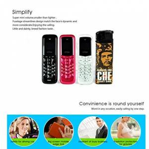 Leruyx Mini tamaño pequeño gsm 1800/900 RDA8851 Teléfono Celular móvil para niños Senior Elder para GT Star Mini teléfono Celular BM50 Durable