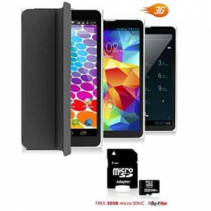 indigi Unlocked 7in Android 3G Smart Phone+Tablet PC Bluetooth WiFi w/Built-in Smart Cover 32gb microSD Included