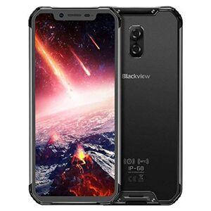 Blackview BV9600 teléfono Celular Desbloqueado para Smartphone (Pantalla FHD Android 9.0, 5580 mAh, Carga inalámbrica, cámara AI, 6,21 Pulgadas y 19:9), Color Gris, Gris