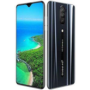 ASHATA 6.3 Pulgadas Reconocimiento Facial Teléfono HD Waterdrop Pantalla Tarjeta Dual Doble Modo de Espera Red 4G 4800mah Smartphone 3 + 64G Soporte Android 9.1 Negro(Nosotros)