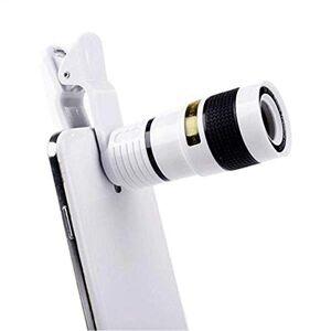 XTBB Lente de la cámara del teléfono Celular Lente del telescopio de la cámara con Zoom óptico 12X Lente con Clip para iPhone/Teléfono Lente Universal Producto Universal Teléfono móvil B