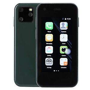 T osuny Mini Smartphone, Mini Teléfonos Móvil 3G, Fuerte Cuatro Núcleos WCDMA/B1/B5/GSM 850/900/1800/1900, Tarjetas Dobles Doble Modo de Espera, 2.5 Pulgadas 3G Mini WiFi Smartphone Android(Verde)