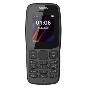 Nokia 106 Teléfono desbloqueado GSM de fábrica (850/1900) de doble banda TA-1190 de una SIM (2018) (modelo internacional)