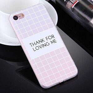 Minyangjie Caja del teléfono móvil Gran for el iPhone 8 y 7 Gracias Fondo Grabado en Relieve Rosa for amar Palabras me Patrón Caso de la Cubierta Protectora TPU (Color : Color1)