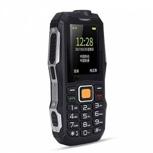 "ASHATA Teléfono móvil para personas mayores teléfonos celulares Pantalla de 1.77 ""SIM dual Doble modo de espera Modo de espera a largo plazo 32 + 32M Soporte Tarjeta T-flash 8GB Botones grandes(US plug)"