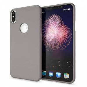 NALIA Funda Neon Compatible con iPhone XS MAX, Carcasa Protectora Movil Silicona Ultra-Fina Gel Bumper Estuche, Goma Cubierta Telefono Cobertura Delgado Cover Smart-Phone Case, Color:Gris