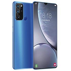 "Dilwe1 Note20 Smartphones desbloqueados, 6.5""Ultra HD Incell Waterdrop Screen Phone, 12 + 512G MTK6889 Mobile Phone, Dual SIM Cell Phone Desbloqueado para Android 10.0 Blue(Reino Unido)"
