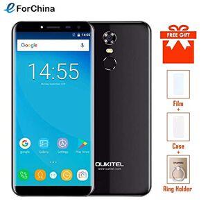 "Oukitel C8 5.5"" 18:9 Infinity Display Smartphone Android 7.0 3000mAh 2GB RAM 16GB MT6580 Quad Core Huella 13MP teléfono celular (añadir tarjeta TF de 32 GB)"