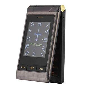 fosa1 Flip Teléfono Celular fácil de Usar para Personas Mayores, Escritura a Mano G10-C Pantalla Dual Modo de Espera Largo 2G Teléfono de 4 Bandas con Funciones(Negro)