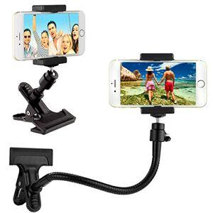 CAMKIX Soporte para teléfono / cámara con Cuello de Ganso Flexible y Abrazadera Fuerte  para fotografía móvil, Registro y visualización de Videos, navegación GPS, etc.  Montaje de trípode para cámara
