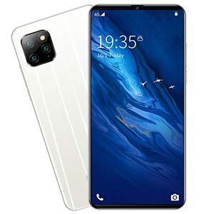 """Fancyart Teléfono inteligente de visualización completa de 6.1"""" con doble tarjeta de desbloqueo de la llamada, 6 GB + 128 Gb, QHD, desbloqueo facial, cámara de belleza, 3800 mAh, color blanco"""