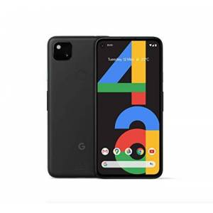 "Google Pixel 4a (4G) G025N 128GB, 5.8"" Inch Factory Unlocked 4G/LTE Smartphone (Just Black) International Version"