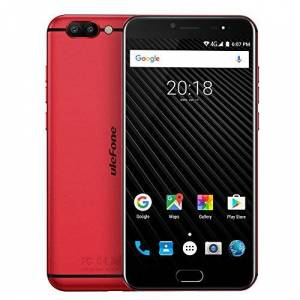 Ulefone Original  T1 16.0MP+5.0MP Dual Back Cameras Android 7.1 Smartphone Helio P25 Octa Core 6GB 64GB 5.5 inch FHD Mobile Phone(Red)