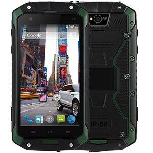 Hipipooo guophone V9IP68impermeable Dustproof Shakeproof Smartphone Rugged Android 4.4teléfono móvil 3G Unlocked 11,4cm MTK6572Dual-Core, ranura para tarjeta SIM dual (Verde)