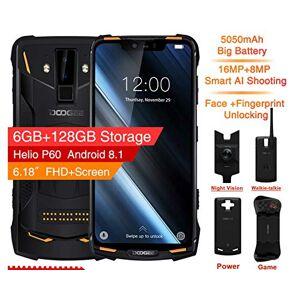 dwk IP68 / IP69K (Caja para Exteriores) DOOGEE S90 Super Modular Rugged Mobile Phone 6.18inch Pantalla 5050mAh Helio P60 Octa Core 6GB 128GBOrange