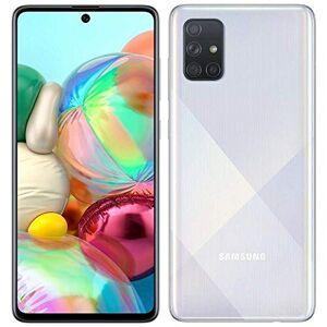 Samsung Galaxy A71, 128GB + 64GB SD + Case Bundle, Prism Crush Plata