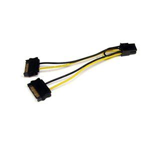 StarTech SATPCIEXADAP Cable Adaptador de Alimentación SATA a Conector Hembra de 6 Pines de Corriente de Tarjeta de Video PCI Express PCI-E, 15 cm