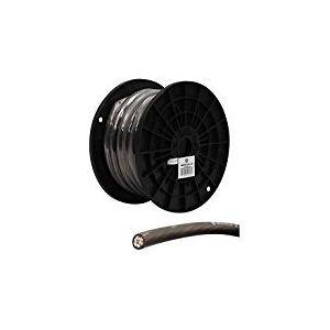 Rockville R0G30BLACK 0 Gauge 30-Ft. Spool Black Car Amp Power+Ground Wire Cable