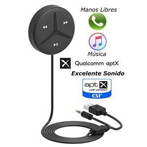 Aston Innovations Aston SoundTek A2 + Soporte AptX AptX Decodificador AAC de baja latencia Transmisión de música inalámbrica Bluetooth Kits de manos libres para automóvil Receptor Bluetooth auxiliar de 3.5 mm Manos libres para automóvil para automóvil y c