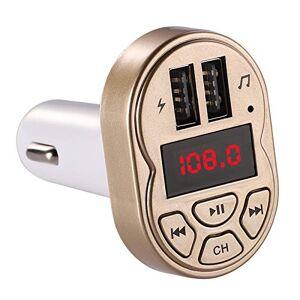 COODIO Cargador USB para Coche (3,1 A, Receptor Bluetooth, transmisor FM, Manos Libres, Audio y Reproductor de MP3) Dorado MLN-200109-ceYZ-BAABED77C2