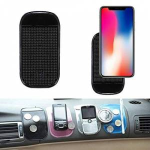 Partm Almohadilla adhesiva reutilizable antideslizante para coche, alfombrilla para teléfono celular, alfombrilla para detector de radar, alfombrilla antideslizante para auto, soporte antideslizante para almohadillas para orejas y alfombrillas de coche