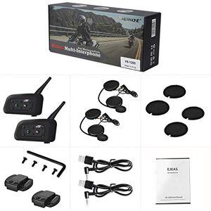 RONSHIN V6 1200M casco intercomunicador de motocicleta con Bluetooth completo dúplex para motocicleta, audífonos inalámbricos para 6 pilotos, conversación para esquí, motocicleta, camping, Embalaje doble.